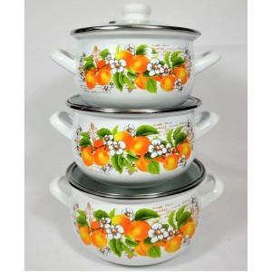 Абрикос Набор посуды (d16см/d18см/d20см)2л,3л,4л