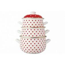 Горох красный Набор посуды (d16см/d18см/d20см) 2л,3л,4л