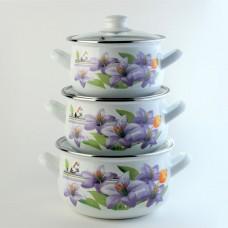 Лилия Набор посуды (d16см/d18см/d20см) 2л,3л,4л