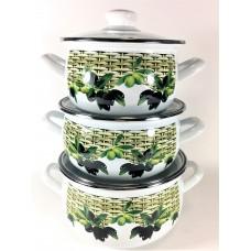 Оливки Набор посуды (d16см/d18см/d20см)2л,3л,4л