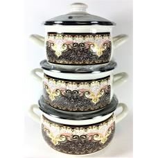 Терракот Набор посуды (d16см/d18см/d20см)2л,3л,4л