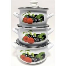 Ягодный микс Набор посуды (d16см/d18см/d20см)2л,3л,4л