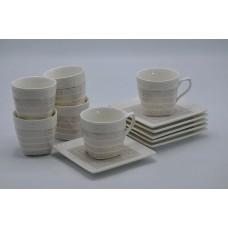 Набор чайный 12пр. Роскошный.Объём кружки 170мл,размер тарелки 13*13см