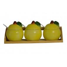 Набор для специй 3 предмета Лимон.Объём 210мл