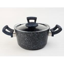 Germanitium Кастрюля 18*10см 2,2л ст/крышка / ETTCKK0218006 синий