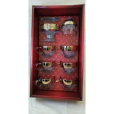 Чайный набор барокко (6 кружек,креманка,лимоница)