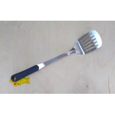Лопатка кухонная, с прорезью, с серой силиконовой ручкой 41 см Generous (3*12)