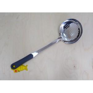 Шумовка кухонная, с серой силиконовой ручкой 39 см Generous (3*12)