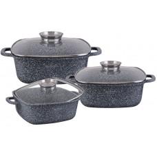 Набор посуды 6пр. EDENBERG гранит. покр. (2.6л.4.6л6.7л)
