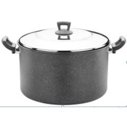 Germanitium Кастрюля 34см 18л мет/крышка / ETTCLK0934005 серый
