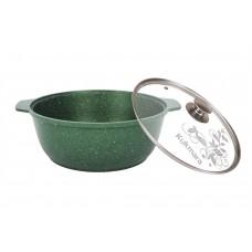 "Кастрюля-жаровня 4л стекл.крышк.АП ""Trendy style""emerald"