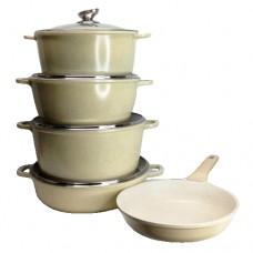Набор посуды Hoffmann 9 предметов 3 кастрюли: 5.2 л, 6.3 л, 8.3 л; сотейник 4.8 л; сковорода 26 см