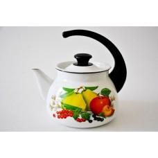 Чайник 3л сфер.с рис.(бел./слон.)