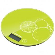 Весы кухонные электронные HOMESTAR  лайм.Максимальная нагрузка 7кг,цена деления 1гр.