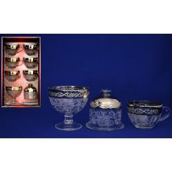 Чайный набор вдохновение (6 кружек,креманка,лимоница)