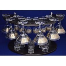 Набор б/с 19 предметов мартини/рюмка/ стопка Версаль