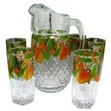"""Набор """"Вальс"""", кувшин+6 стаканов с деколью,4"""