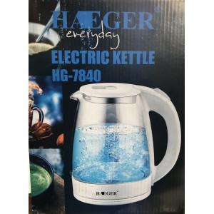 Чайник элекирический HAEGER 2200Вт, 2л