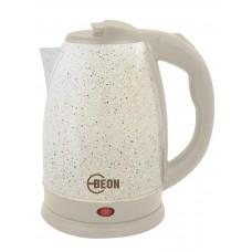 Чайник электрический Beon, 1,8л,нержавеющая сталь,диск,беж с мраморной крошк.диск,  2200Вт