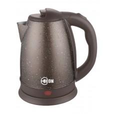 Чайник электрический Beon, 1,8л,нержавеющая сталь,диск,шоколад с мраморной крошк.диск,  2200Вт