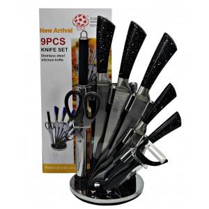 Набор ножей на подставке 9 пр