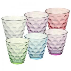 Набор стаканов 6шт.200мл,цветн.стекл.