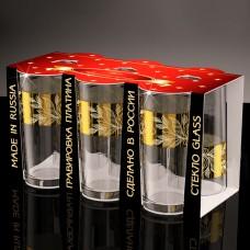 Набор стаканов для сока золотая полоса 230 мл. (6шт.) ГН (6)