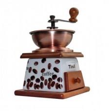 Ручная кофемолка.Дерево,керамика,сталь.Объём контейнера 20мл
