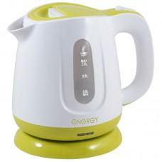 Чайник ENERGY E-234 бело-зеленый 1 л диск.Мощность 900-1100Вт.Пластиковый корпус.