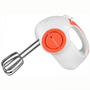 Миксер ENERGY EN-296 бело-оранжевый.Мощность 150 Вт.5 скоростей