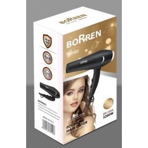Фен для волос профессиональный Borren BR-3304. 3200 Вт.