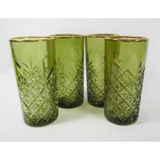 Олива+А1 TIMELESS-Набор 4 стакана 295сс выс