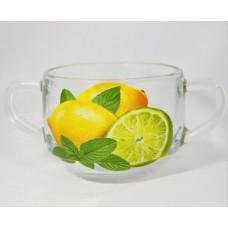 Лимон-Лайм Кружка для супа с двумя ручками 635сс SL