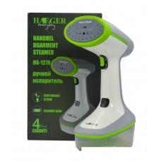 Отпариватель ручной HAEGER-1278.Мощность 1500Вт.Пластик,керамика.Кнопка блокировки.2 режима пара