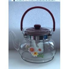 Чайник заварочный  cтекло и пластик 900 мл
