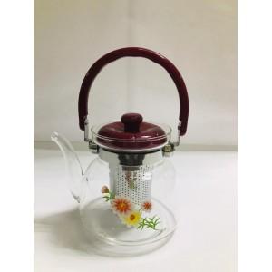 Чайник заварочный  cтекло и пластик 2,2 л