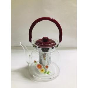 Чайник заварочный  cтекло и пластик 1600 мл