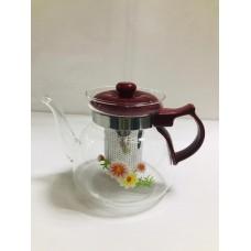 Чайник заварочный  cтекло и пластик 800 мл