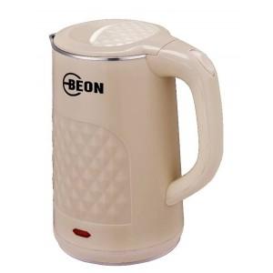 Чайник электрический Beon, 2л, двойные стенки, внутри колба нерж, снаружи пластик, 2200Вт