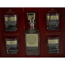 Набор для виски 5 предметов Балтик графин/стакан Версаль (4)