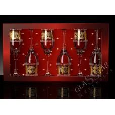 Набор бокалов для шампанского 2 Версаль 200 мл. открытая коробка ГН (4)