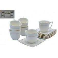 Набор чайный 12пр.Оригинальный.Объём кружки 180мл,размер тарелки 12,5*12,5см