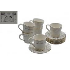 Набор чайный 12пр.Нежность.Объём кружки 180мл,диаметр тарелки 13см.6 кружек,6 тарелок