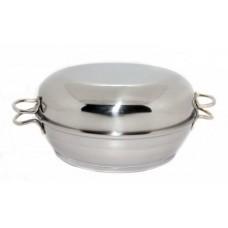 Сковорода-жаровня 1,5л Классик-Прима,прорез.ручк.,мет.крышк.
