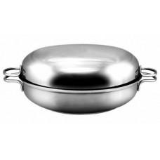 """Сковорода-жаровня 2л """"Классика-Прима"""",прорез.ручк.,мет.крышк."""