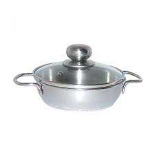 Сковорода 0,5л ТРС-3,стекл.крышка,2ручк.