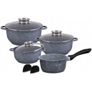 Набор посуды 10пр. EDENBERG гранит. покр. (1,3л2.3л4.5л ковш+сковорода d24)