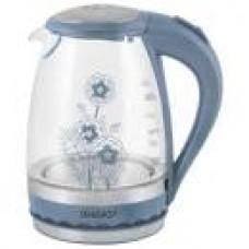 Чайник ENERGY синий (1,5 л. . диск) стекло(6)